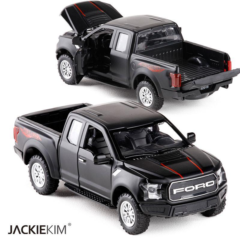 01:32 F150 pegaram o caminhão da liga do carro metal modelo Diecasts Veículos de brinquedo Pull Back Flashing Som For Kids Toy frete grátis Y200109