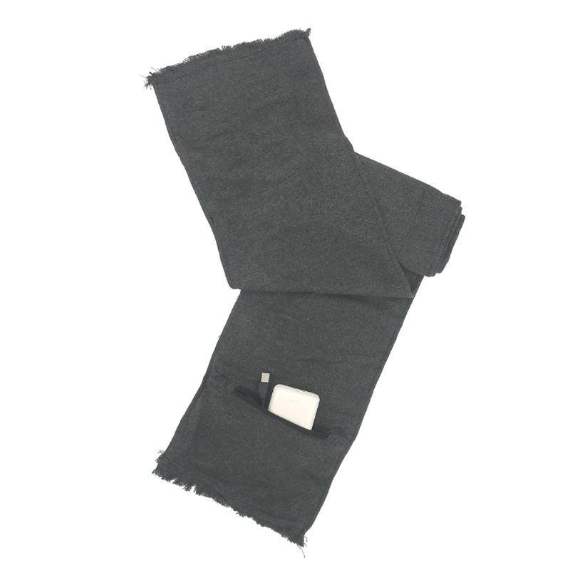 Sıcak Boyun Yıkanabilir Açık Sıcak Eşarp Windproof Şarj Kan Dolaşımı Sıcaklık Kontrolü Kızılötesi Pamuk Blend USB
