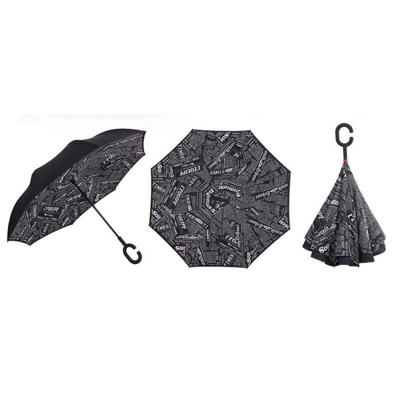 Seamless Exotic Pattern With Tropical Leaves Reverse Umbrella Double Layer Inverted Umbrellas For Car Rain Outdoor With C-Shaped Handle Personalized