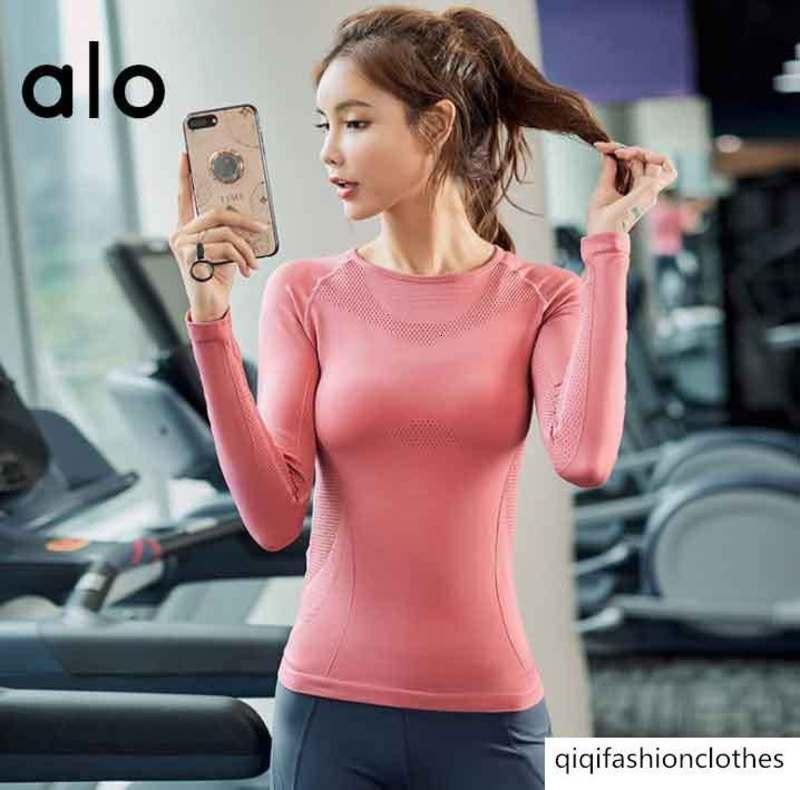 l'aptitude du sport féminin Mario YOGA4504 course T-shirt à manches longues mince