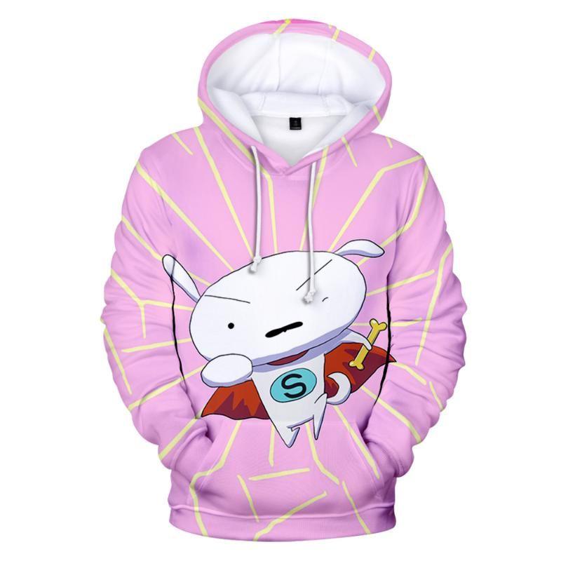 2020 Popular Pai-filho pai-filho dos desenhos animados Hoodie Hoodies camisola Men Mulheres 3D Super Little White Boy Girl Pullover Top