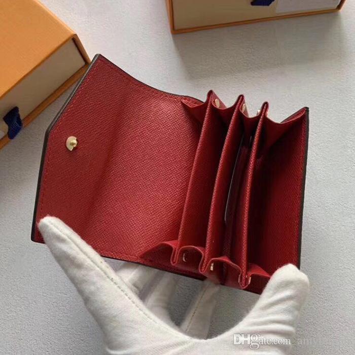 Wholesale Classic Holder Holder Wallet Box Original Women Quality Purse Monedero Monedero Monedero Alto Diseñador Diseñador Corto Cartera Corta Ho UUXG