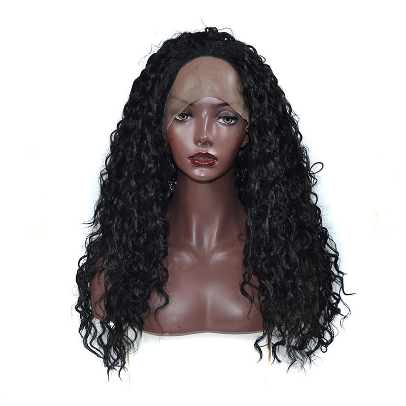 Kinky Curly Synthetic Lace Front Wig for Black Women Best Quality Kanekalon High Temperature Fiber Lace Front Wig with Natural Hairline