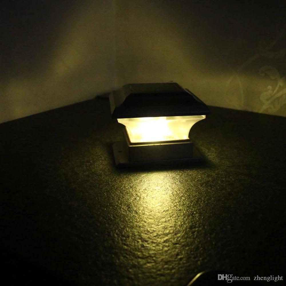 BRELONG Açık Güneş Pillar Işık Courtyard Villa Pillar Işık Bahçe Peyzaj Çit iliştirmek Işık IP44 Su geçirmez 1 adet