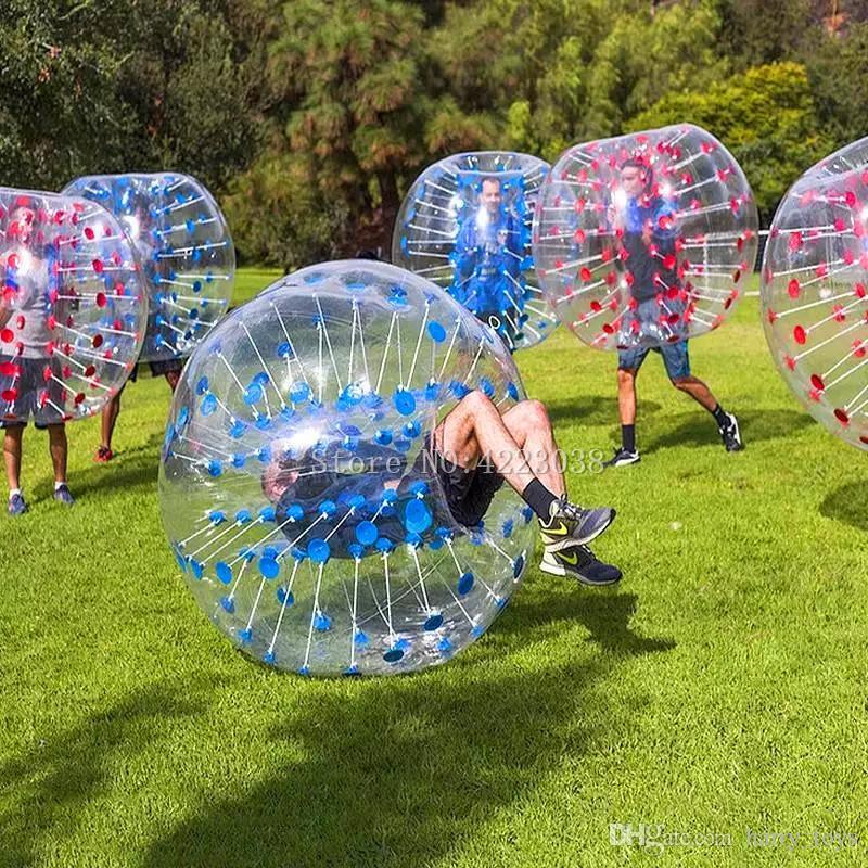 Bola inflável Frete Grátis 0,8 milímetros PVC Dia 1.5M bolha Football bolha bola de futebol inflável Bumper Ball Air bolas de futebol Venda