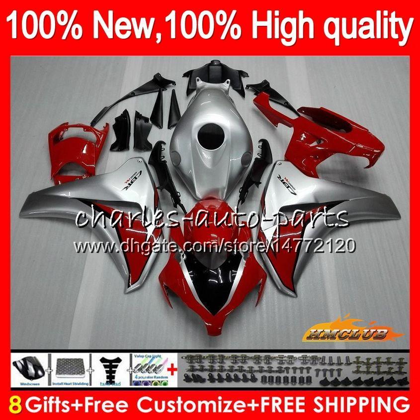 Cuerpo de color rojo plateado para Honda CBR1000RR CBR 1000 RR CC 1000CC 79HC.13 CBR1000 RR CBR1000RR 08 09 10 11 2008 2009 2010 2011 carenados OEM Kit