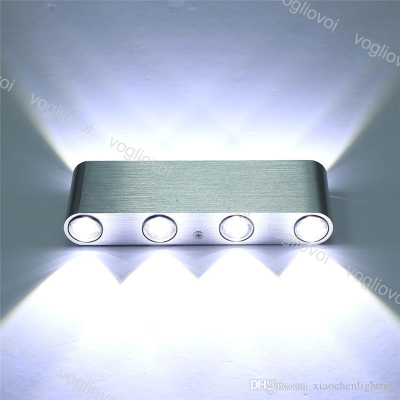 Lâmpadas de parede Alumínio levou para baixo 8w ac85-265v moderna lâmpada cubóide decoração interior iluminação em casa DHL