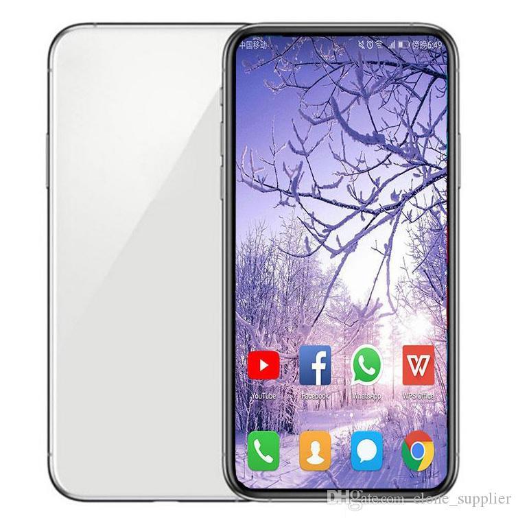 Etiqueta verde GooPhone Pro Max 6.5 pulgadas Pro Max GooPhone Face ID de carga inalámbrica 3G WCDMA Quad Core 1 GB de RAM 16 GB ROM cámara de 8.0 megapíxeles Mostrar 512 GB