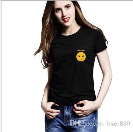 2020 Pembe / Siyah Pamuk kadın T Shirt Mektup Baskı Tasarımcısı T Shirt Marka Aynı Stil Tops Ve Tees 92721