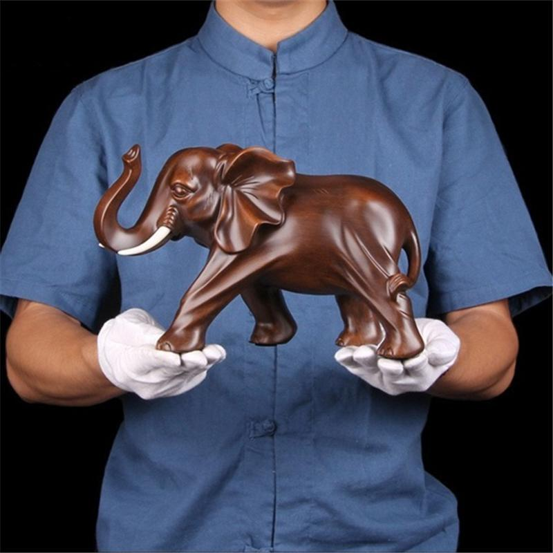 New Resin Elephant Handmade Crafts Decoration Home Living room office Animal Statue High quality Ornaments Gift T200619