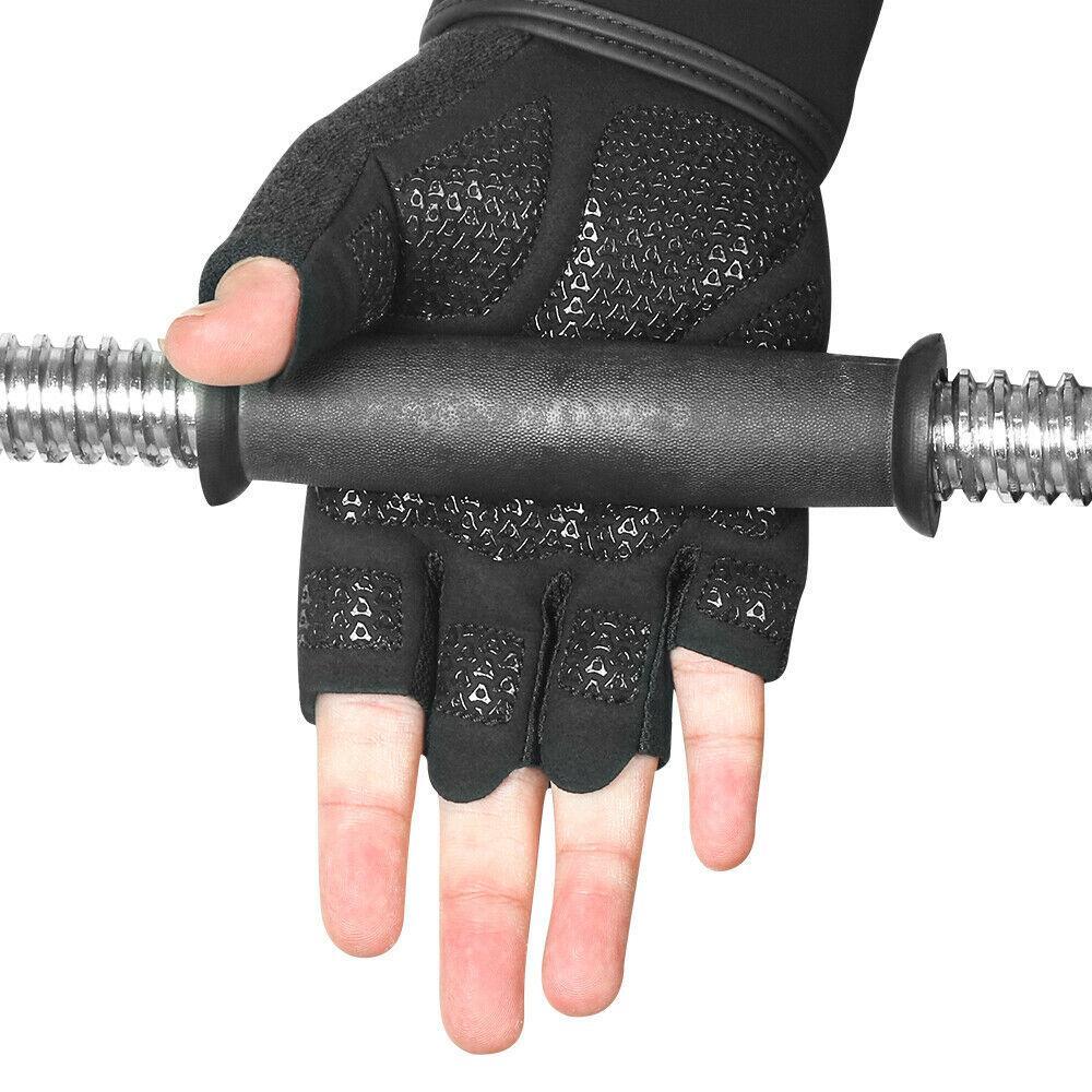 نساء رجال الرياضة ركوب الدراجات للياقة البدنية GYM تجريب قفازات التمرين نصف إصبع الدراجة