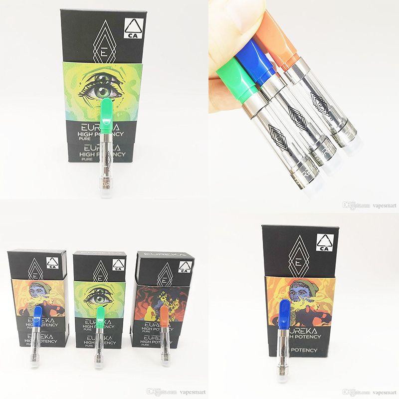 Eureka vapes cartucce Packaging Vape Penne 1,0 ml di ceramica Carrelli Instock 510 0.8ml Discussione vaporizzatore di plastica TANK Vape-kit e sigarette