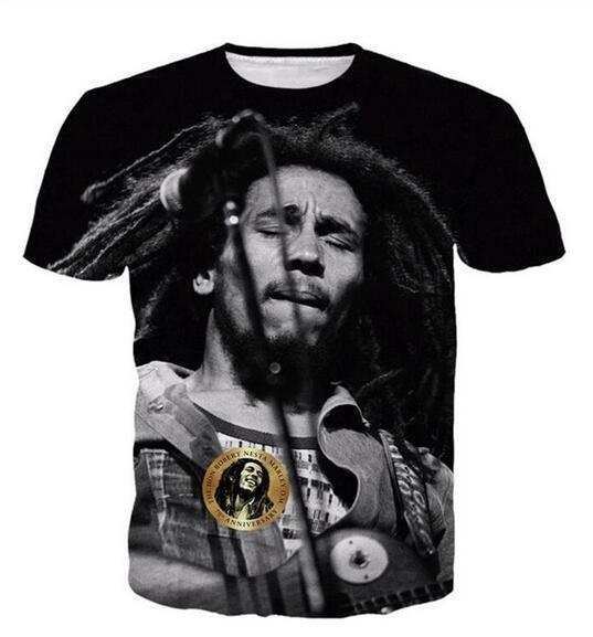 Neueste Art und Weise Mens / Womans Bob Marley-Sommer-Art-T-Shirts 3D-lässig T-Shirt Tops Print Plus Size BB043