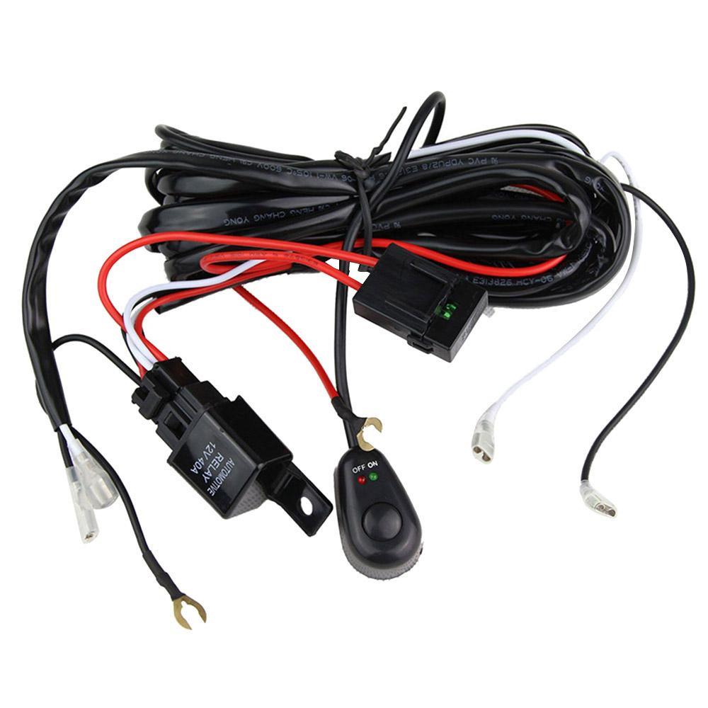 12V 자동차 전선 스위치 도매와 오프로드 LED 운전 작업 등을위한 릴레이 하네스 키트