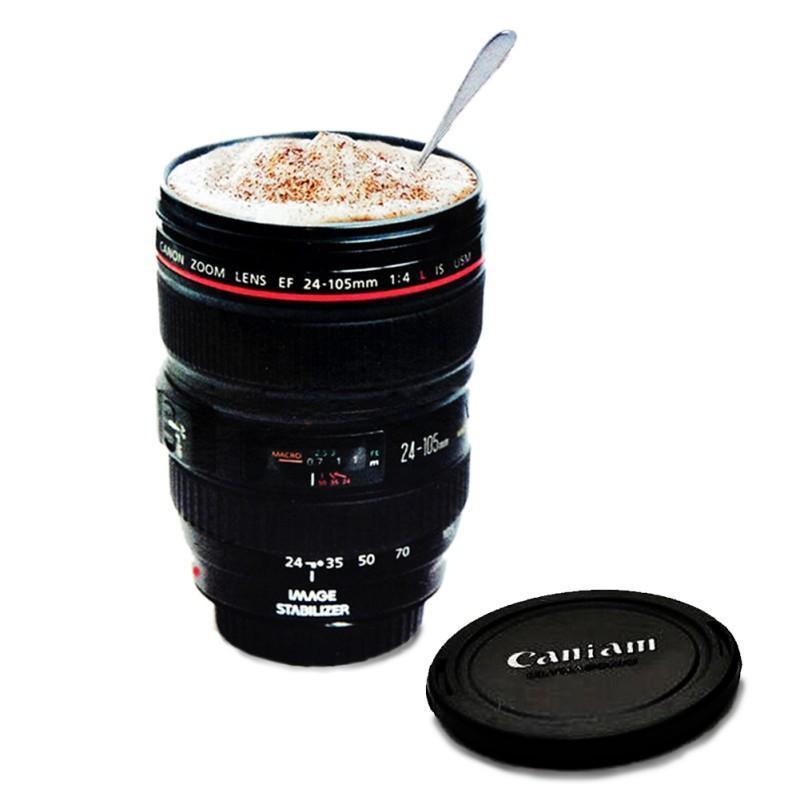 Al por mayor de Caniam lente de la cámara SLR Moda 24-105 mm 1: 1 escala de café plástica taza de la lente creativa