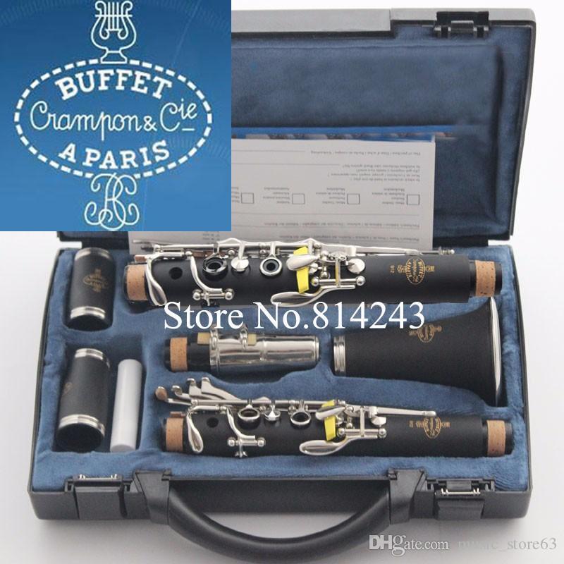 Kalite Marka Büfe 1825 B18 Klarnet 17 Anahtar Bb Müzikal Aletler ile Siyah Kılıf Bakalit Tüp Deri Kutusu