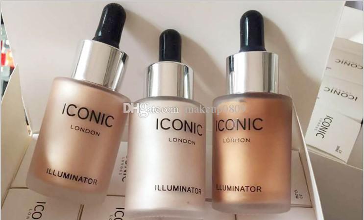cosméticos de maquillaje punto icónico de Londres iluminador gotero líquido fundación