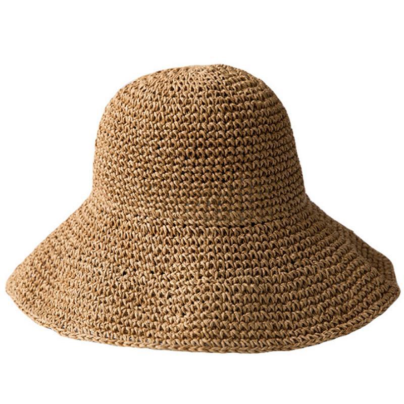 Super sell-estate delle donne di Sun Cappello Dolce retro pieghevoli di paglia Cappelli Ragazze della spiaggia Cappelli di Panama sole vacanza visiera dei cappelli