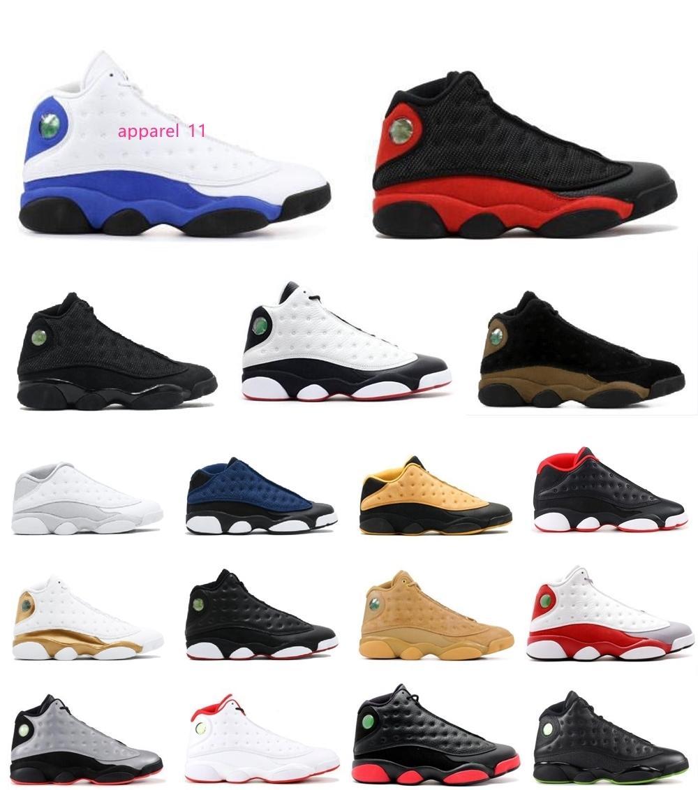 con maschile e femminile di pallacanestro Shoes Sneakers 13s XIII Black Cat Hyper Reale Chicago rosse per uomini di marca Designer Shoes Sport