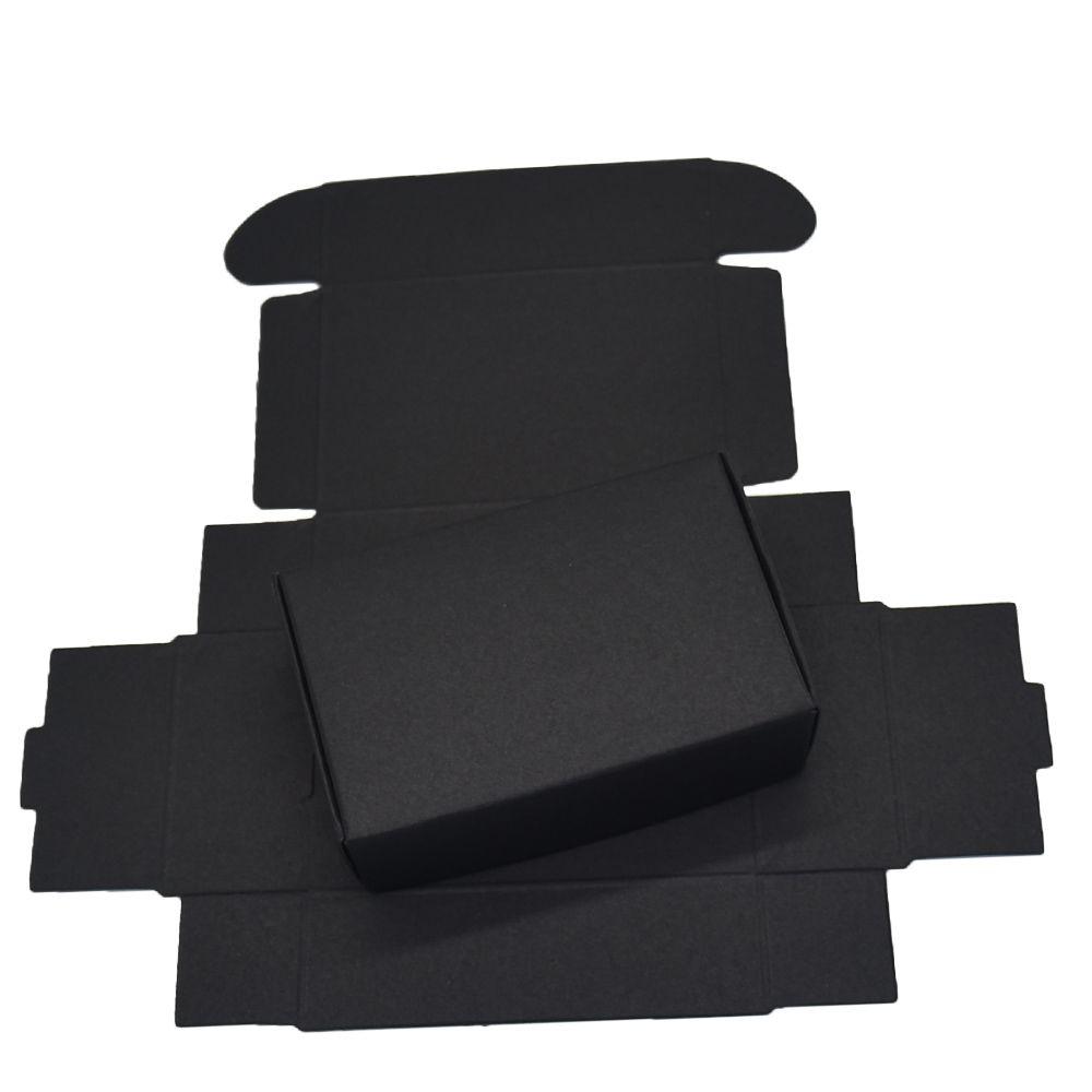 9.4x6.2x3 cm caixas de papelão de papelão preto para o pacote de cartão de presente de casamento Kraft caixa de papel de doces de aniversário artesanato caixa de decoração 50PCS de embrulho