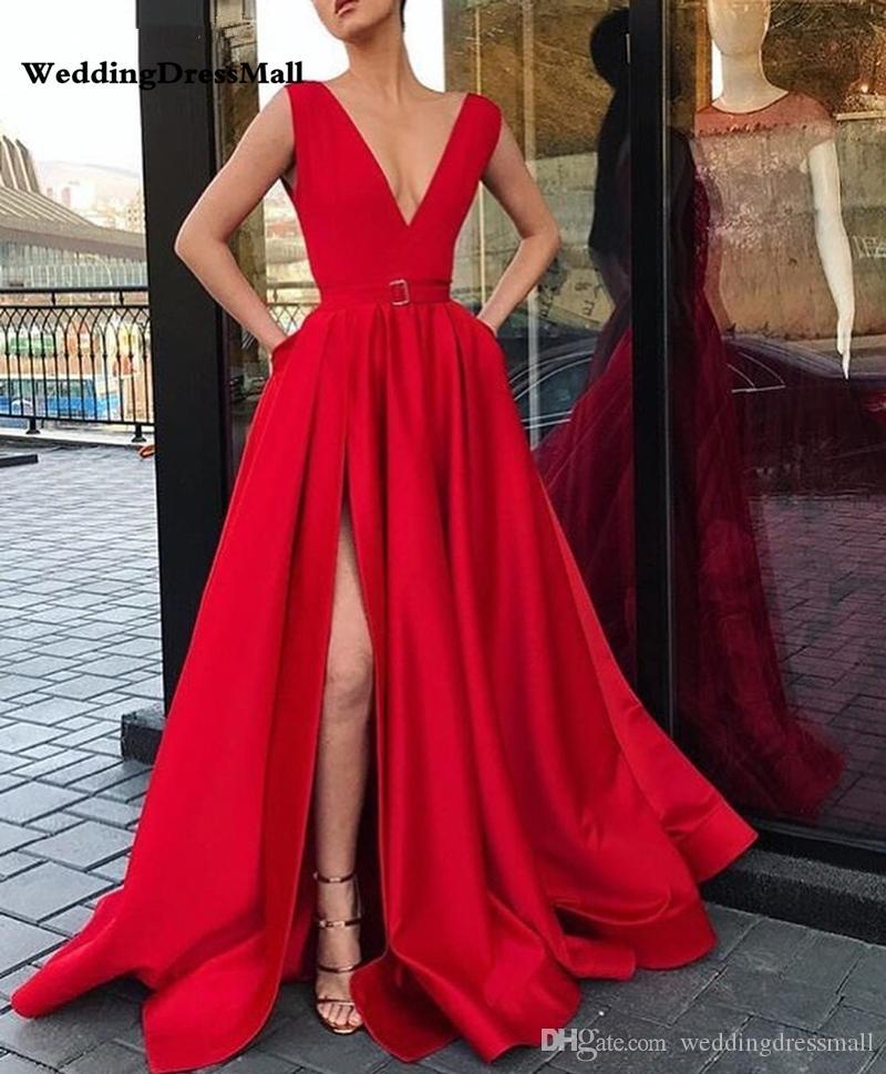 Kleid rot satin lang Top 10