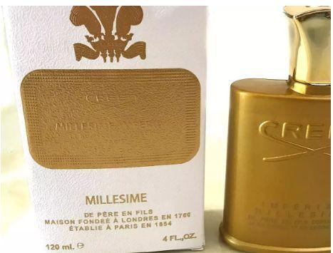 뜨거운 판매 새로운 신조 제국 Millesime 향수 120ml 남자 황금 병 오래 지속 높은 향기 좋은 품질