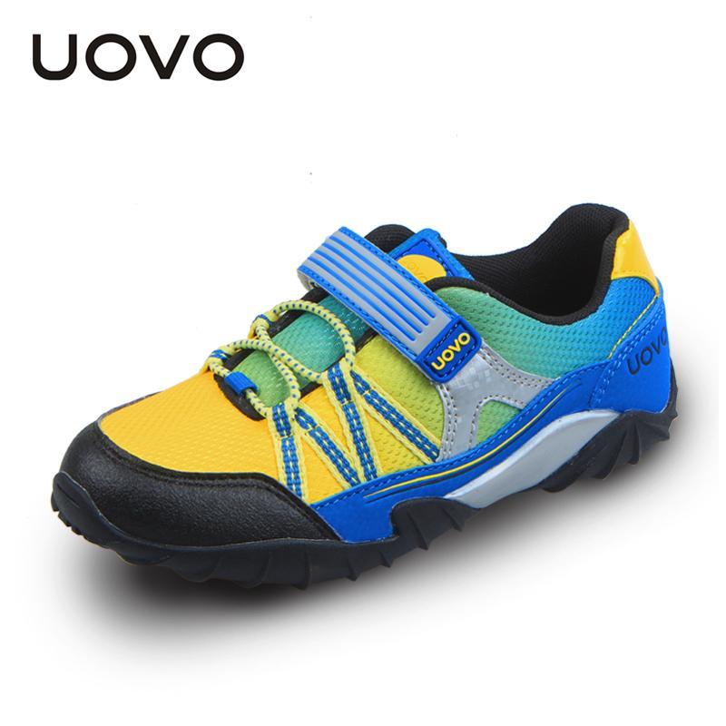 Uovo Frühling Herbst Kinder Sport Boys Lauf Haken- und Schlaufenkleinkind-Junge Schuh-Breathable beiläufiger Turnschuh # 26-35 S200107