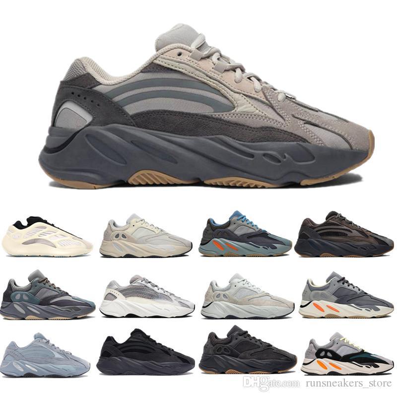 2020 Nuevo 700 V3 Azael Alvah Kanye West Zapatos para hombre Zapatos de funcionamiento del Hospital azul para los hombres 700S calzado deportivo TRIPLER Moda Formadores las zapatillas de deporte