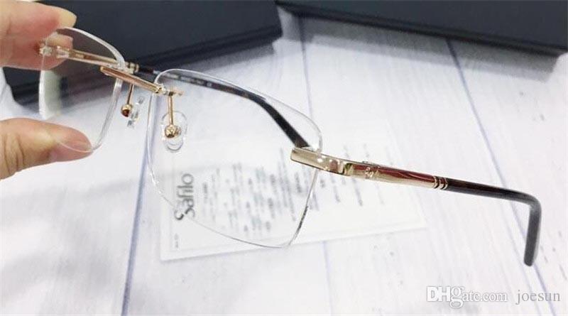 Nova Moda Homens Ópticas Titânio Óculos 579 Metal Pequeno Quadrado Frameless Popular Design Popular Qualidade superior com caixa