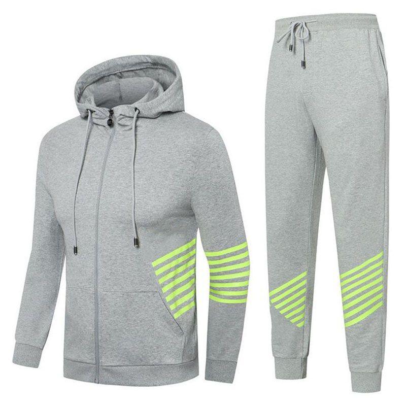 Size M-3XL Designer Mens Tracksuit Luxury Casual Suits Hoodies + Pants Set Spring Autumn Zipper Sports Running Men Tracksuit