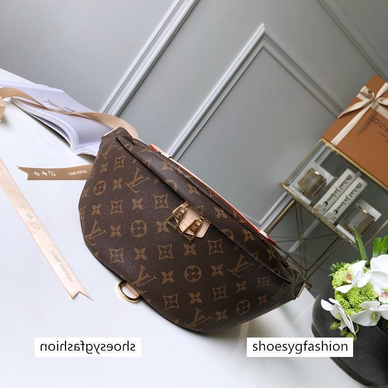 Klasik stili gerçek deri Fanny Paketi Çanta Kemer kadınları Para Handy Bel Çanta Katı Seyahat çantası 43644 serseri