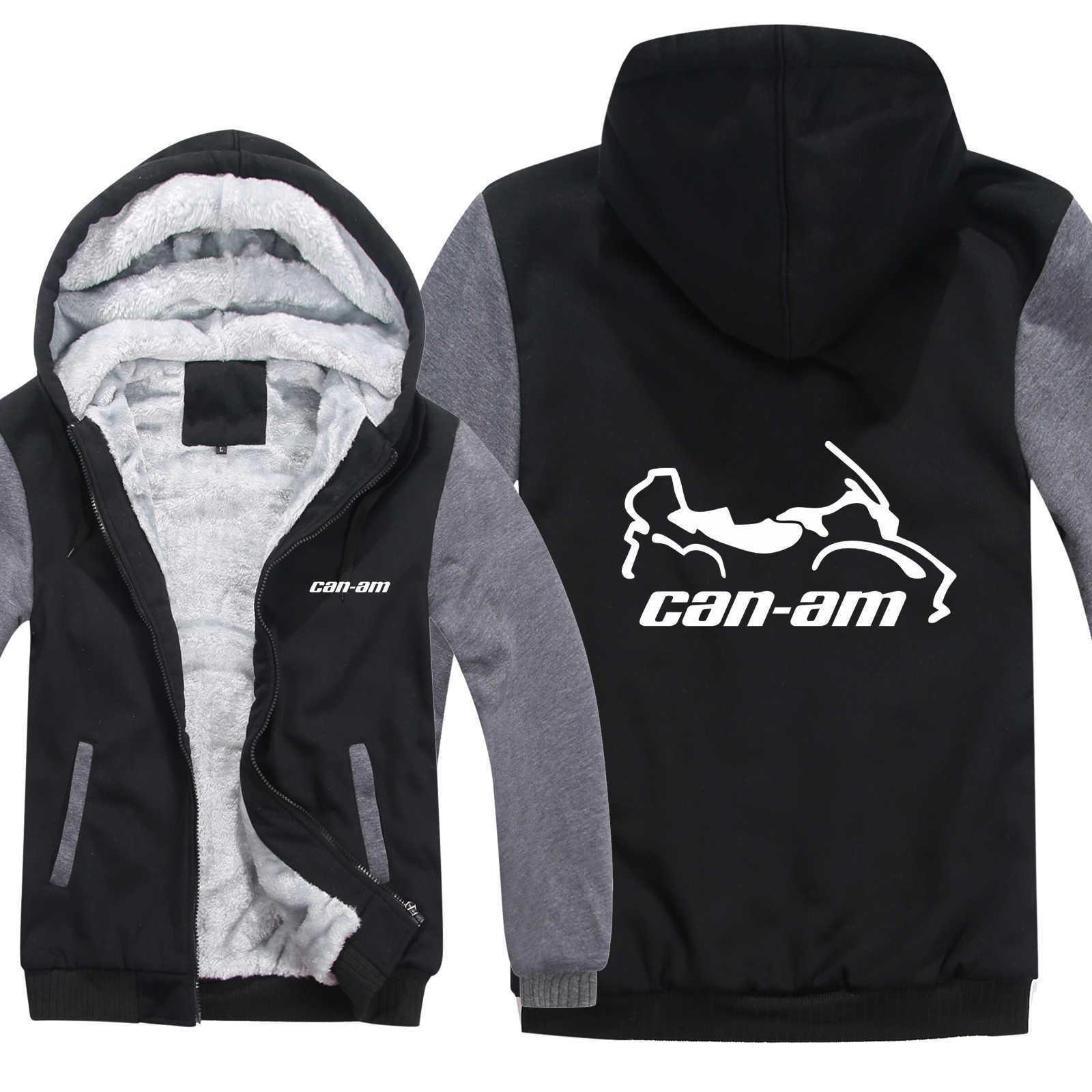 Can Am Motos Hoodies Hommes Épais Manteau De Mode Pull Laine Veste Liner Veste Can Am Sweats À Capuche HS-061 SH190905