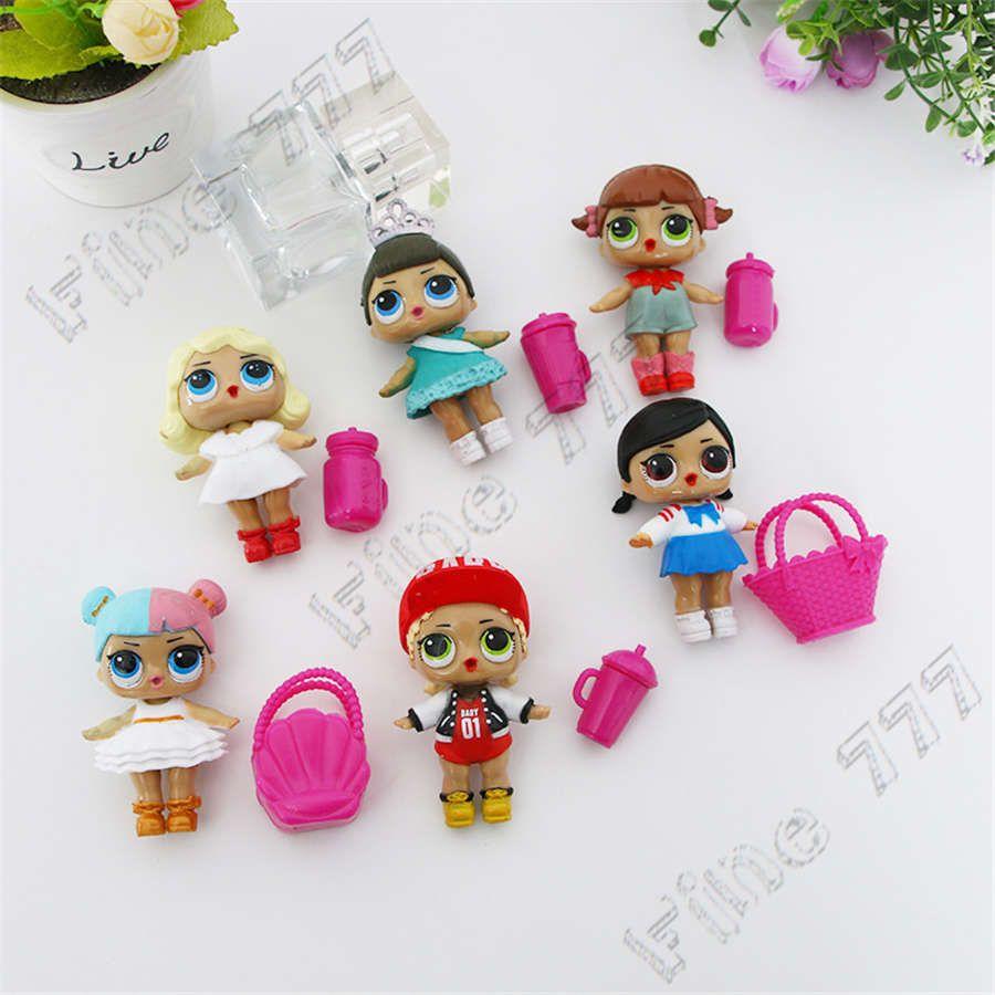 LOL doll cake decoration mini cup lol doll toy PVC Action Figures 6pcs/lot 7.5cm lol