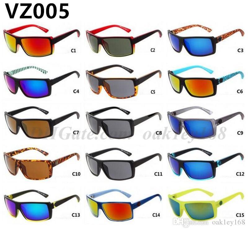 أزياء العلامة التجارية رجل إمرأة نظارات شمس VZ005 الرياضة في الهواء الطلق عاكس ركوب الدراجات النظارات الشمسية نظارات ملونة 15 نظارات نظارات