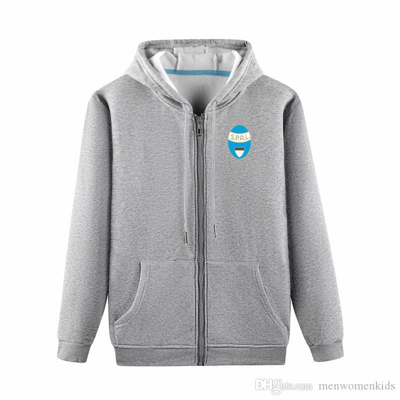 Spal футбольные куртки футбольные майки спортивная тренировочная куртка мода досуг куртки с капюшоном с длинным рукавом футбольные куртки болельщики топы