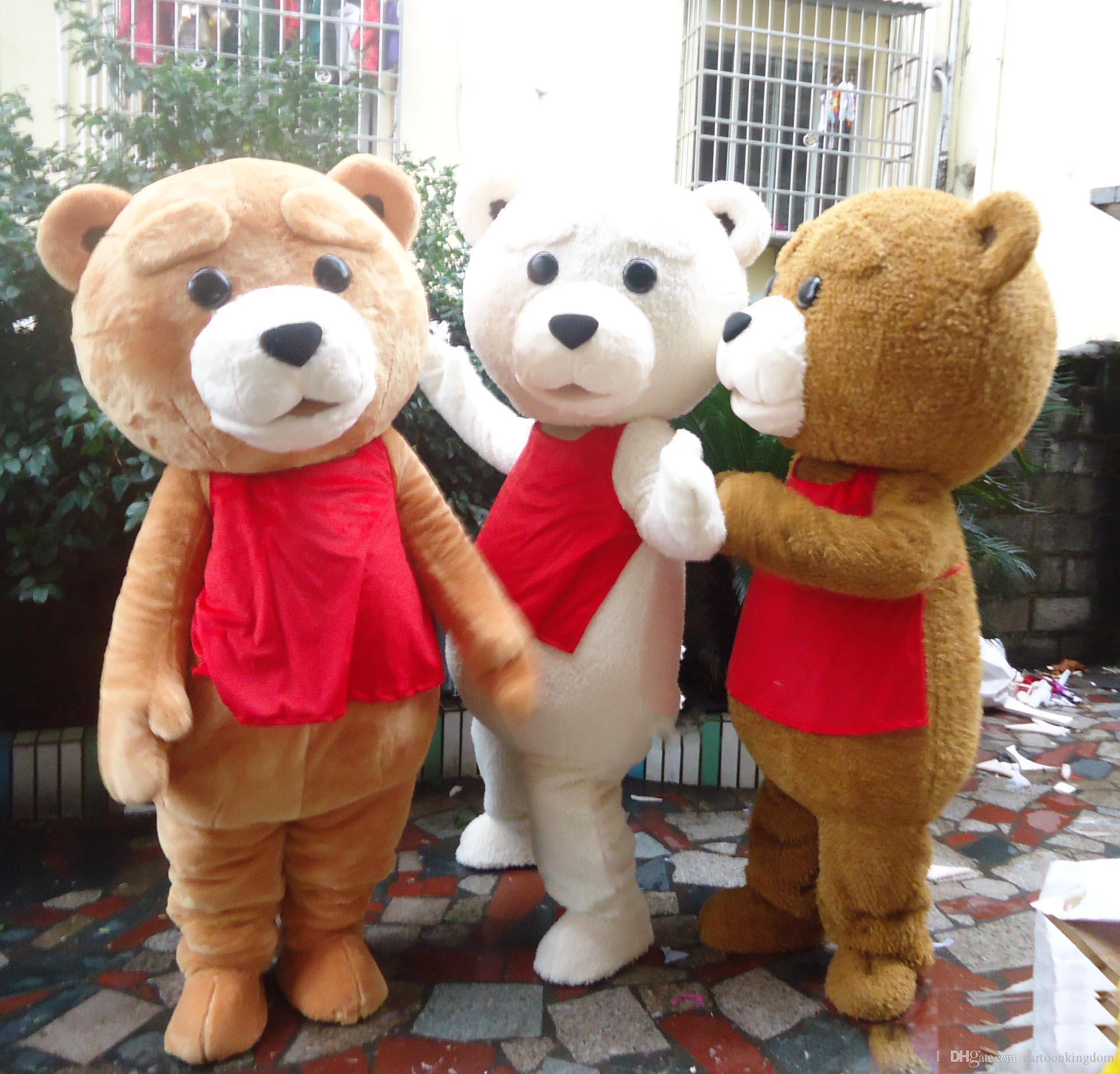 2018 İndirim fabrika satış teddy bear maskot kostüm yetişkin için seçim için 5 renk ile satılık giymek