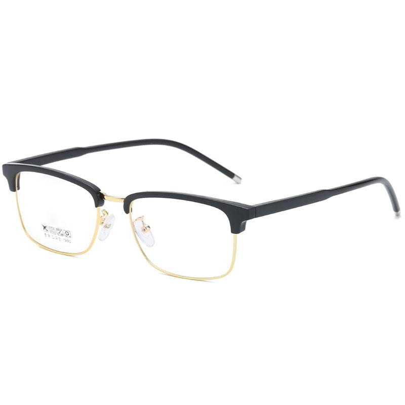 2019 classic retro square flat glasses men and women sunglasses metal frame trend flat mirror high quality computer glasses to send boxes