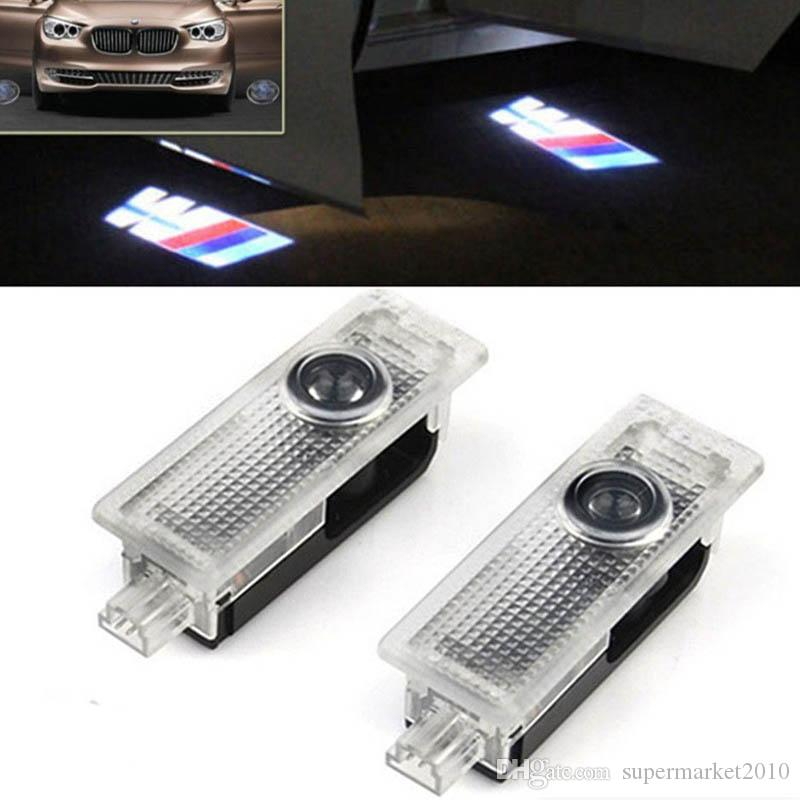 2PCS LED باب السيارة الخفيفة لسيارات BMW E39 X5 E53 E52 528I M X3 X5 E60 E90 F10 F30 F15 E63 E64 E65 E86 E89 E85 E91 E92 M5 نرحب خفيفة