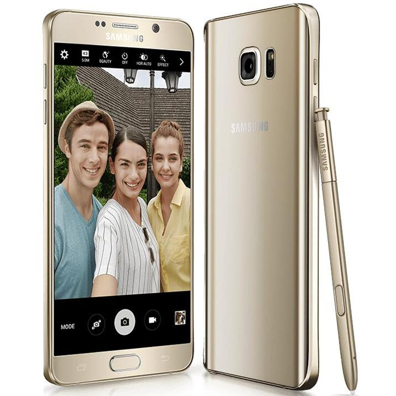 Orijinal Yenilenmiş Samsung Galaxy Note 5 N9200 Çift SIM 5.7 inç Octa Çekirdek 4GB RAM 32GB ROM 16MP 4G LTE Telefon DHL 1pcs