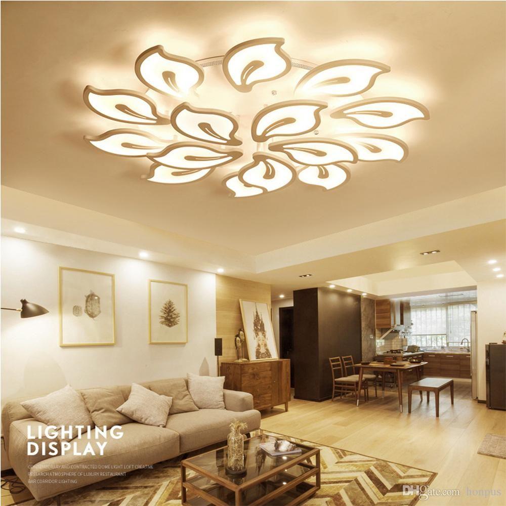 luci moderne lampadario a soffitto led per soggiorno sala da pranzo camera Studio AC85-265V Lampadari Infissi