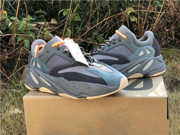 2020 Satış Karbon Mavi 700 V2 Tasarımcı Ayakkabı Dalga Runner Teal Mavi Vanta Atalet Kanye West Ayakkabı Erkek Kadın Spor Ayakkabı Koşu