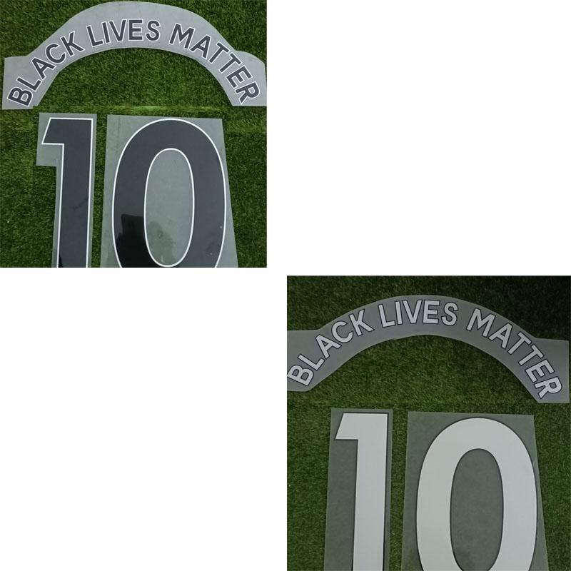 2020 Schwarz Lives Matter NameSet Druck anpassen Alle Name Nummer Soccer Patch Badge