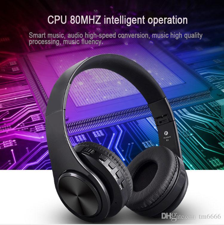 Взрыв B3 Bluetooth наушники беспроводная оголовье наушники 400 мАч батарея TF Card Play AUX Audio Line гарнитура для IPhone Android телефон