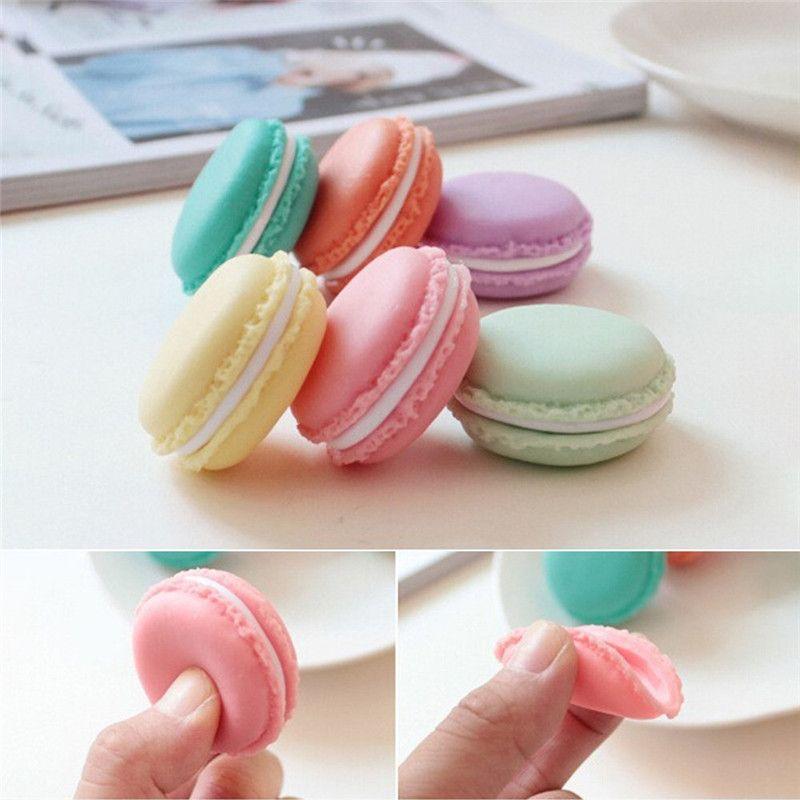 Портативный конфеты цвета Мини Симпатичные Macarons кольцо ювелирных изделий ожерелья Подушка Чехол Органайзер для домашнего хранения Box Decor