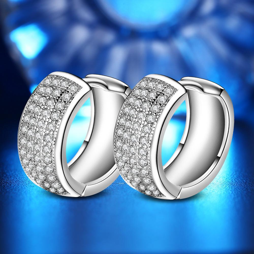 Orecchini a stella doppia CZ per gioielli donna pendiente plata 925 orecchini a bottone in argento ed91 boucle d'oreille brincos