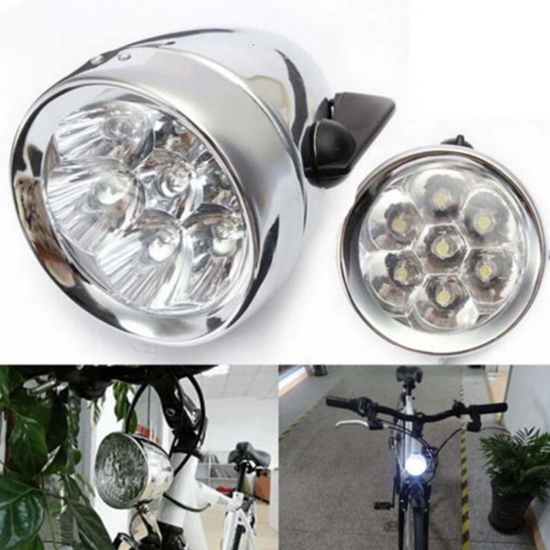Bicycle Head Lights 3 LED Vintage Retro Classic Bike Front Lights Lamp Bicycle Headligh NEW Arrival Cycling Accessories #125 T191116