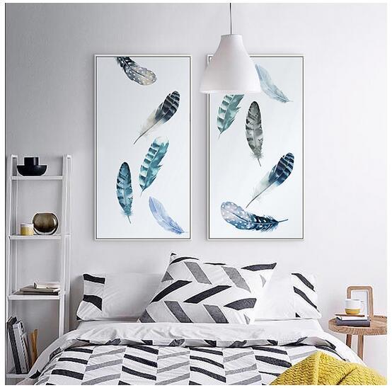 Zarif Şiir Modern İskandinav Hava Dağınık Tüyler sanat duvar dekorasyonu sıcak satış popüler posteri 66556 Dancing edilir