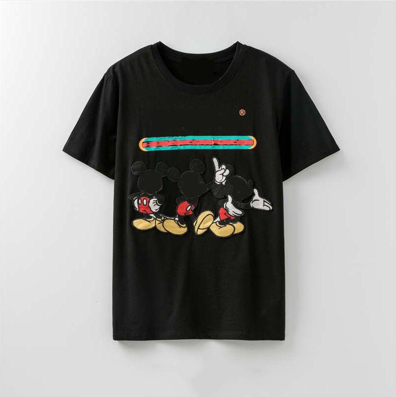 Lady Paris LOGO Yaz Tasarımcı tişört Çizgili Marka Sokak Kısa Kollu Lüks L0g0 Gömlek S-XXL LR200419 için 2020 Kadın Tasarımcı Tişörtlü