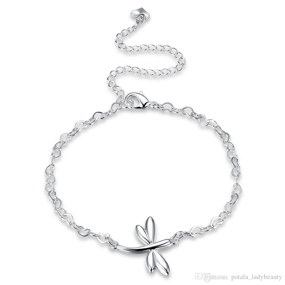 weddings Anklet Bracelet Dragonfly Anklet bridesmaid gifts Dragonfly Bracelet Christmas gifts Copper Dragonfly Bracelet Fall gifts
