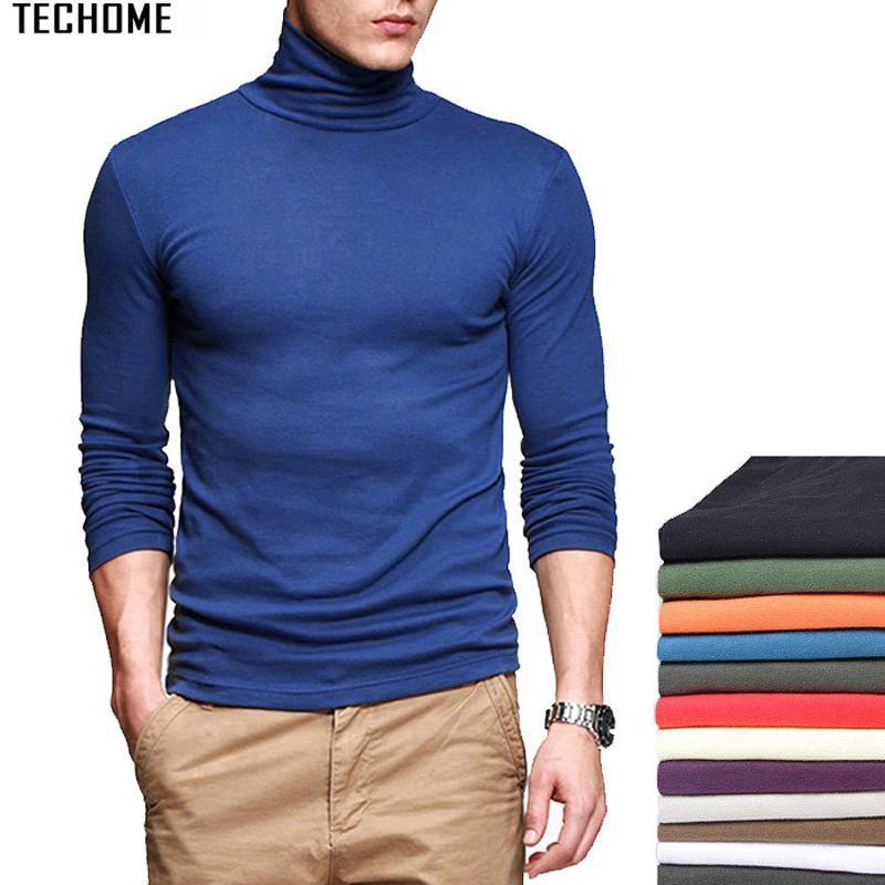 High collar Compression Shirts Men Bodybuilding Sportswear T-shirt Long Sleeve T